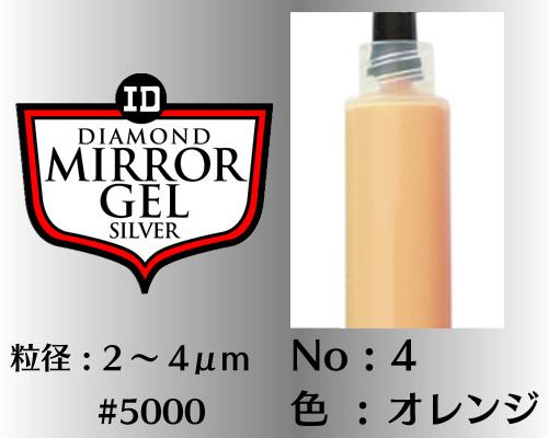 画像1: ミラージェル シルバー 12g No.4 オレンジ 2〜4μm  #5000