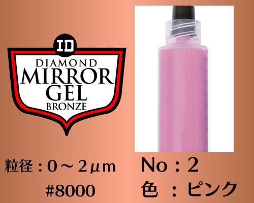 画像1: ミラージェル ブロンズ 6g No.2 ピンク 0〜2μm  #8000