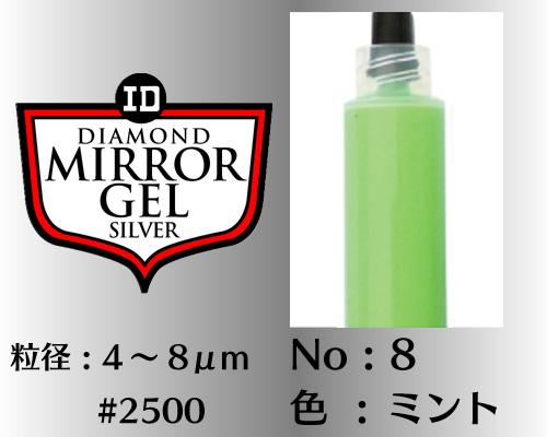 画像1: ミラージェル シルバー 12g No.8 ミント 4〜8μm  #2500