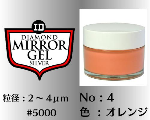画像1: ミラージェル シルバー 100g No.4 オレンジ 2〜4μm  #5000