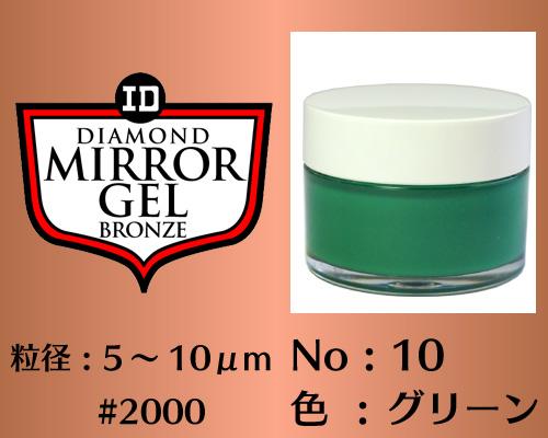 画像1: ミラージェル ブロンズ 100g No.10 グリーン 5〜10μm  #2000