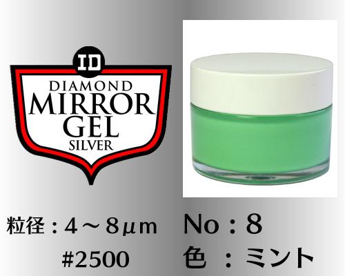 画像1: ミラージェル シルバー 100g No.8 ミント 4〜8μm  #2500
