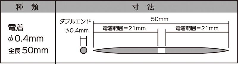 画像2: マイクロフィニッシュ 丸ヤスリ ショート   φ0.4mm #400 5本セット