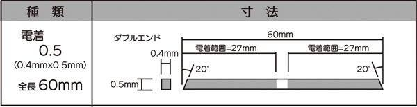 画像2: マイクロフィニッシュ 角ヤスリ ショート   □0.5mm #600 5本セット