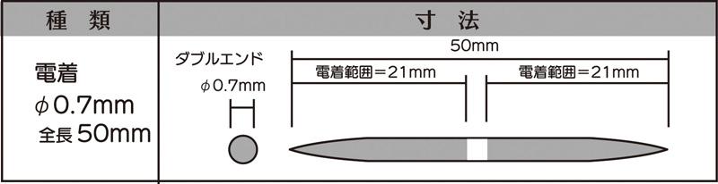 画像2: マイクロフィニッシュ 丸ヤスリ ショート   φ0.7mm #600 5本セット