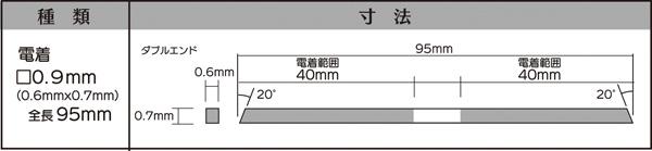 画像2: マイクロフィニッシュ 角ヤスリ ロング   □0.9mm #600 5本セット