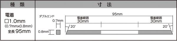 画像2: マイクロフィニッシュ 角ヤスリ ロング   □1.0mm #200 5本セット