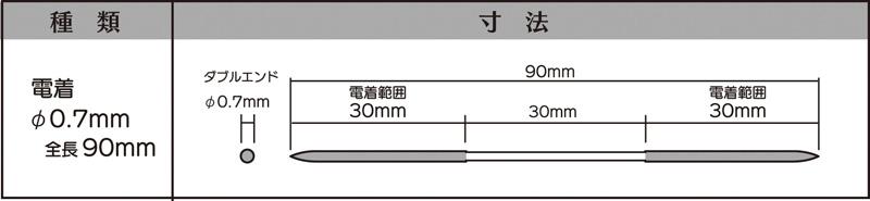 画像2: マイクロフィニッシュ 丸ヤスリ ロング   φ0.7mm #200 5本セット