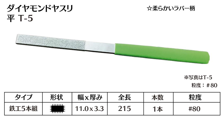 画像1: ダイヤモンドヤスリ T-5平  #80 (単品)